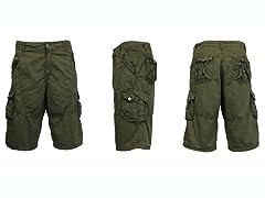 Vintage Cargo Shorts, 2 Button
