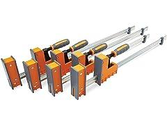 Bora 4-Piece Parallel Clamp Set