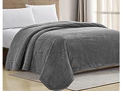 Sheradian Chevron Jacquard Braided Bed Cover Blanket