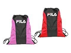 Fila X4 Sackpacks, Pink & Red 2-Pack