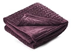 Amherst 50x60 Throw-Eggplant