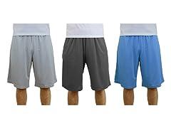 Mens Moisture-Wicking Mesh Shorts 3PK