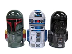 3-Pack Star Wars Molded Savings Banks