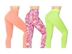Nextex Women's Neon Active Leggings 3Pk