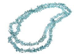"36"" Endless Blue Topaz Chip Necklace"