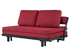 Abbyson Living Florence Red Convertible Sofa
