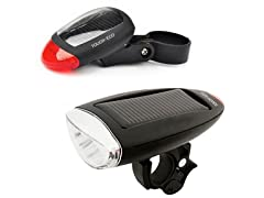 Touch Of ECO CYCLELITE Solar Front & Rear Bike Light
