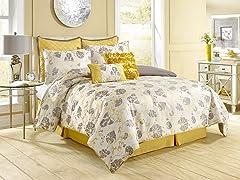 8-Pc Vintage Floral Comforter Set