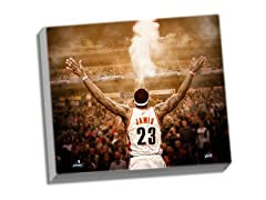 "LeBron James ""Powder"" Back View 24x26"