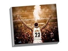 """LeBron James """"Powder"""" Back View 24x26"""