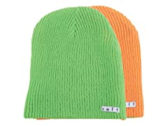 Reversible Beanie - Slime/Orange