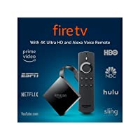 Deals on Amazon Fire TV Streaming Media Player w/4K Ultra HD and Alexa Voice Remote Used