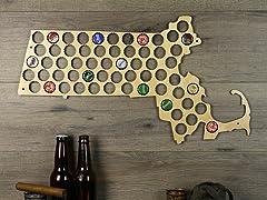 Beer Cap Map: Massachusetts