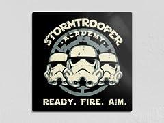 "Ready. Fire. Aim. 12"" x 12"" Metal Poster"