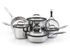 KitchenAid 10pc Stainless Cookware Set