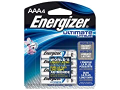 Energizer Ultimate Lithium AAA Batteries - 4 Pack