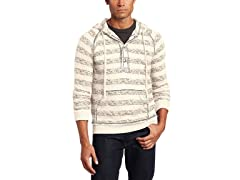 Alex Stevens Men's All Over Stripe Hoodie, Beige