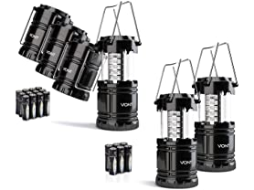 Vont LED Camping Lanterns: 2pk or 4pk