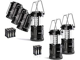 Vont LED Camping Lanterns: 2pk or 4pk