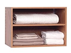 Oak 2-Shelf Closet Organizer