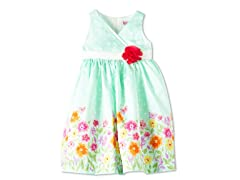 Flowers & Rose Woven Dress (4-6X)
