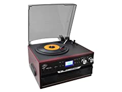 Vintage Styled Turntable - Plays AM/FM/Cass/CD/MP3/SD