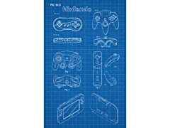 Nintendo Controllers - Screen Print