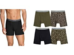 FOL Men's Print/Solid Bxr Brief 4 or 8Pk