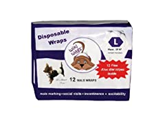 Wiki Wags Large Male Dog Wraps