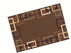 "Syntax 7'9"" X 9'9"" Area Rug - Brown"