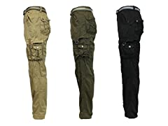 Galaxy by Harvic Cargo Pants, 2 Colors