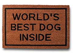 World's Best Dog Inside Mat
