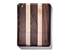 Walnut Lt. Stripes Cover for iPad 2 & 3