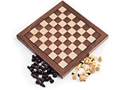 Trademark Walnut Book Style Chess Board