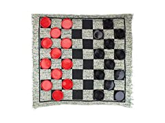 Giant 3-in-1 Checkers and Mega Tic Tac Toe