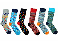Unsimply Stitched Crew Socks 6-Pack