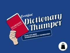 Dictionary Thumper Tote
