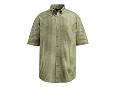 Barton Cotton Button-Down Shirt, Leaf