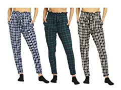 Women's Super Soft Tie Waist Pants 3Pack
