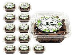 Raw Almonds Mini Cube, 12 Pack