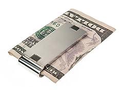 Brushed Black/Steel SS Money Clip
