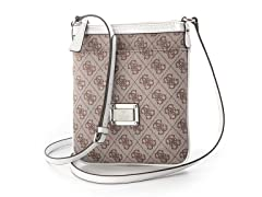 Guess Skya Mini Crossbody Top Zip Handbag, White