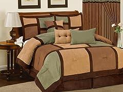 Dareen 7pc Comforter Set - Sage - 2 Sizes