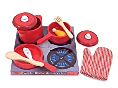 Play Kitchen Accessory Set- Pots & Pans