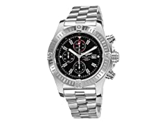 Men's Super Avenger Chrono Black Dial