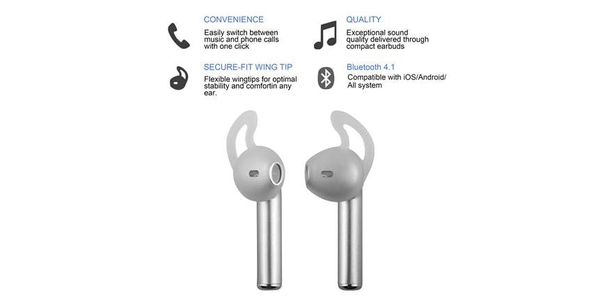 fc18262009d Replay Audio True Link Sport WingTip Wireless Earbuds