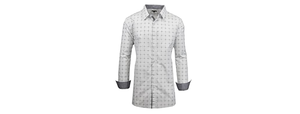 Galaxy By Harvic Woven Dress Shirt Slim Fit