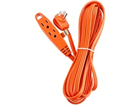 15-Feet 3 Outlet Extension Cord Indoor/Outdoor, 2-Pack