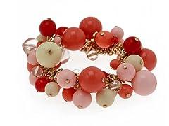 Relic Pink Cluster Stretchable Bracelet