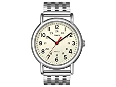 Timex Weekender Watch, Cream w/ Steel